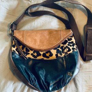 The Sak crossbody leather with cheetah print.